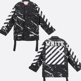 オフホワイト(OFF-WHITE)の【最終値下げ】off-white (オフホワイト)  マーブル ジャケット(Gジャン/デニムジャケット)