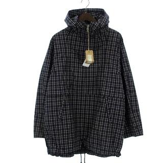 オムニゴッド(OMNIGOD)のオムニゴッド パーカー プルオーバー フード 長袖 チェック 黒 ブラック 3(パーカー)