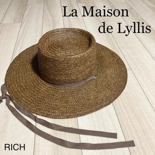 イエナ(IENA)の【La Maison de Lyllis'アーミッシュハット】(麦わら帽子/ストローハット)
