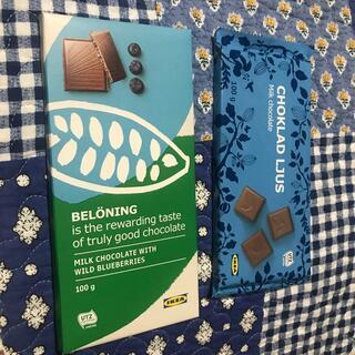 イケア(IKEA)のIKEA チョコレート ワイルドブルーベリー  ミルクチョコレート(菓子/デザート)