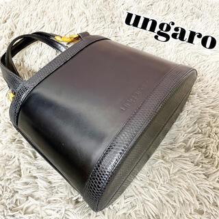 ユーバイウンガロ(U by ungaro)のungaro ウンガロ ハンドバッグ ブラック 本革 レザー レディース 箱型(ハンドバッグ)