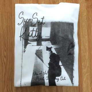 シップスフォーウィメン(SHIPS for women)の☆新品☆ ships  sunset kitty プリント Tee 猫 Tシャツ(Tシャツ(半袖/袖なし))