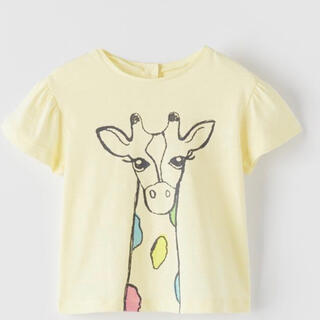 ZARA - ZARAザラ  キリン柄 Tシャツ 80サイズ