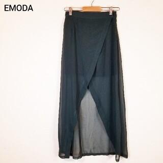 エモダ(EMODA)のEMODA エモダ スカート 巻きスカート S ロング丈 緑 おしゃれスタイル(ロングスカート)
