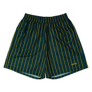 ナイキ(NIKE)の求む!LOGO STRIPE Zip Shorts グリーン(ショートパンツ)