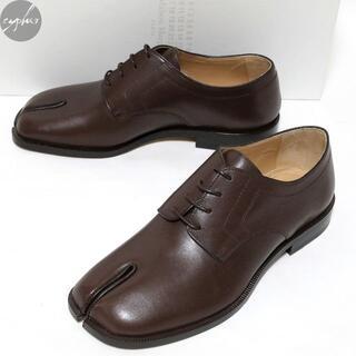 マルタンマルジェラ(Maison Martin Margiela)の42 新品 メゾン マルジェラ タビ レザー レースアップ シューズ 茶 革靴(ドレス/ビジネス)