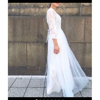 プレ花嫁 レース ドレス ウェディングドレス(ウェディングドレス)
