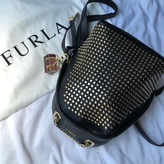 Furla - ✨️激レア・極美品✨フルラ 3way ミニリュック スタッズ チャーム ブラック