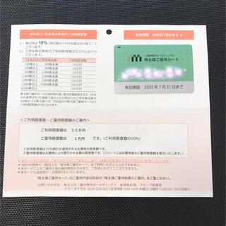 三越伊勢丹ホールディングス 株主優待カード(ショッピング)