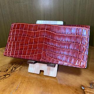 ガンゾ(GANZO)のGANZO ガンゾ クロコダイル 長財布 ブラウン(長財布)
