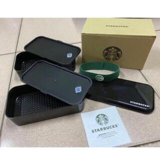 Starbucks Coffee - 台湾 スターバックス お弁当箱 非売品 ランチボックス 2段 ブラック