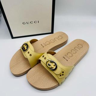 グッチ(Gucci)の【GUCCI】19SSインターロッキングG ウッドスライドサンダル(サンダル)