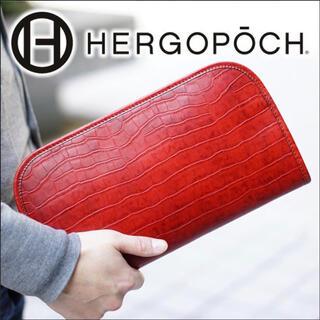 エルゴポック(HERGOPOCH)のHERGOPOCHエルゴポックワキシングレザー クラッチバッグ06C-CL 中古(ビジネスバッグ)