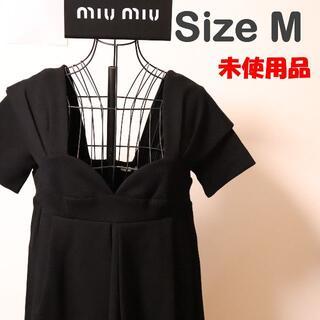 ミュウミュウ(miumiu)の☆未使用☆MIU MIU ミュウミュウ 半袖 ワンピース size M(ひざ丈ワンピース)