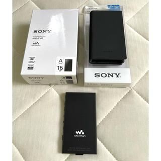ソニー(SONY)の【美品】SONY Walkman NW-A105 16GB ブラック(ポータブルプレーヤー)