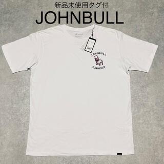 JOHNBULL - 新品 タグ付 JOHNBULL ジョンブル ブルドック 刺繍 Tシャツ ホワイト
