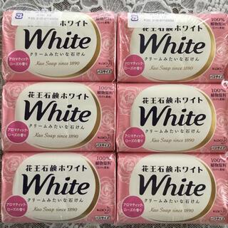 カオウ(花王)の花王石鹸ホワイト バスサイズ130g x 6個セット(ボディソープ/石鹸)