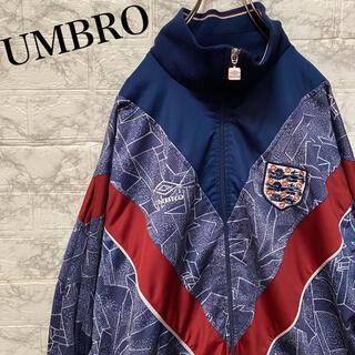 UMBRO - アンブロ ジャージ トラックジャケット 刺繍ロゴ 総柄 90's