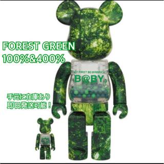 メディコムトイ(MEDICOM TOY)のBE@RBRICK FOREST GREEN Ver. 100% & 400%(フィギュア)