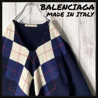 バレンシアガ(Balenciaga)の【美品】バレンシアガ BALENCIAGA 2007FW アーガイル ニット(ニット/セーター)