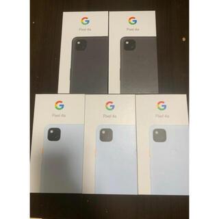 グーグル(Google)のGoogle Pixel 4a  黒青2台まとめ売り 128 GB 即決のみ(スマートフォン本体)
