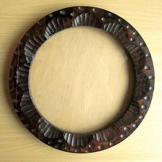 【よっしー様専用】刺繍額縁 デッサン額縁 円型 サークル 木製 壁掛け式(写真額縁)