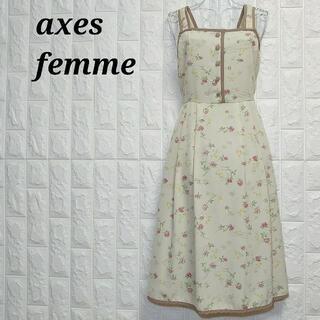 アクシーズファム(axes femme)のアクシーズファム フリル ワンピース 花柄 フラワー ノースリーブ レース(その他)