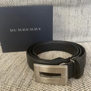 バーバリー(BURBERRY)の新品 バーバリーBurberryのレザーベルト 黒 ブラック 紳士 本革(ベルト)
