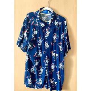 ディズニー(Disney)の東京ディズニーリゾート アロハシャツ ミニー ブルー(シャツ/ブラウス(半袖/袖なし))