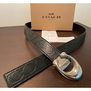 コーチ(COACH)の正規品COACHシグネチャーリバーシブル/フリーサイズベルト専用ギフトbox付き(ベルト)