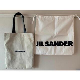 Jil Sander - ジルサンダー ロゴ トートバッグ キャンバス jil sander 正規品