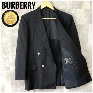 バーバリー(BURBERRY)の美品⭐️モヘア混⭐️バーバリー シャドーホース 金ボタン ダブル ジャケット(テーラードジャケット)