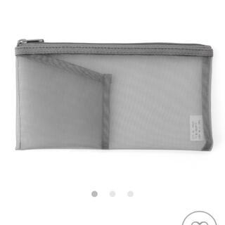 ムジルシリョウヒン(MUJI (無印良品))の無印良品 ナイロンメッシュペンケース・ポケット付き グレー(ペンケース/筆箱)