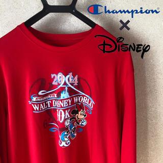 ディズニー(Disney)のDisney×champion コラボTシャツ ミニー(Tシャツ/カットソー(七分/長袖))