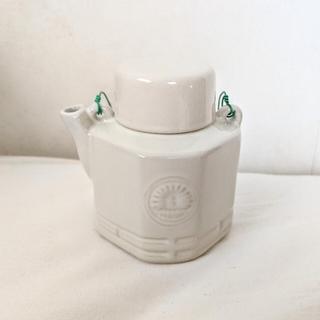 ムジルシリョウヒン(MUJI (無印良品))のFOUND MUJI 汽車土瓶 白 ホワイト 無印良品 新品(その他)