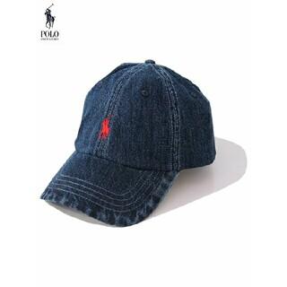 ラルフローレン(Ralph Lauren)の定8250円!海外限定デニム生地!ラルフローレン高級刺繍ロゴキャップ帽子(キャップ)