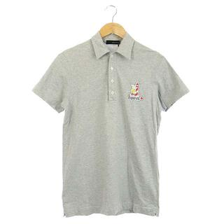 ディースクエアード(DSQUARED2)のディースクエアード DSQUARED2 ポロシャツ プリント 半袖 S グレー(ポロシャツ)