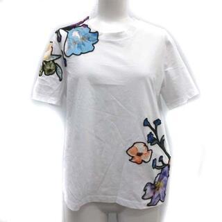 スリーワンフィリップリム(3.1 Phillip Lim)の3.1 フィリップリム S Tシャツ カットソー 半袖 花柄 フローラル 白(カットソー(半袖/袖なし))