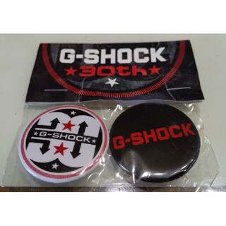 G-SHOCK - G-SHOCK 缶バッジ 30周年記念 カシオGショック 2個セット 非売品