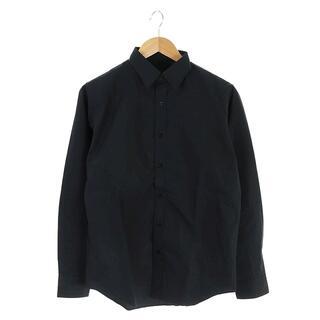 エヌハリウッド(N.HOOLYWOOD)のミスターハリウッド スタンダードドレスシャツ 長袖 38 黒 ブラック(シャツ/ブラウス(長袖/七分))