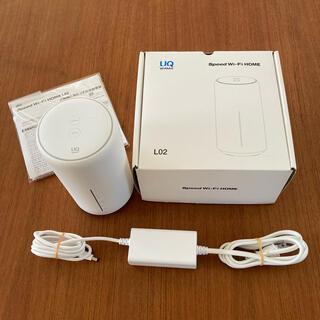ファーウェイ(HUAWEI)のUQ WiMAX 2+  SPEED WI-FI HOME L02ルーター(PC周辺機器)