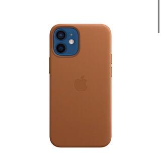 アップル(Apple)のMagSafe対応iPhone 12 miniレザーケース - サドルブラウン(iPhoneケース)
