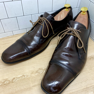 KATHARINE HAMNETT - KATHARINE HAMNETT LONDON 革靴 ダークブラウン25.5