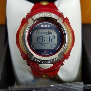 ベビージー(Baby-G)のBaby-G タフソーラー二次電池新品 レッドゼリー(腕時計(デジタル))