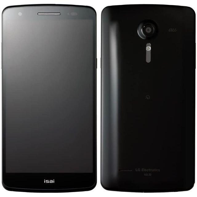 LG Electronics(エルジーエレクトロニクス)のLG isai au LGL22 Black◆新品未使用◆送料無料◆ スマホ/家電/カメラのスマートフォン/携帯電話(スマートフォン本体)の商品写真