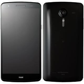 エルジーエレクトロニクス(LG Electronics)のLG isai au LGL22 Black◆新品未使用◆送料無料◆(スマートフォン本体)