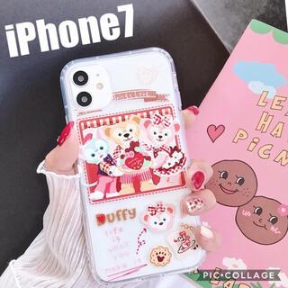 ダッフィー(ダッフィー)の新品 iPhone7 ダッフィー フレンズ スマホケース ディズニー カバー(iPhoneケース)