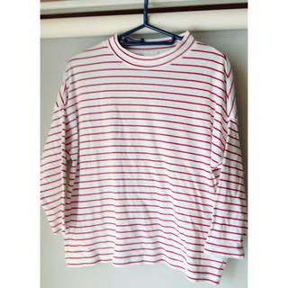 ジーユー(GU)のGU 赤ボーダー(Tシャツ(長袖/七分))