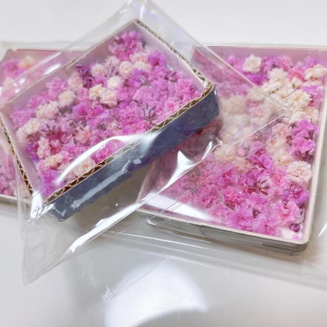 かすみ草 ドライフラワー ピンク&ホワイトmix 蕾入り ハンドメイドのフラワー/ガーデン(ドライフラワー)の商品写真