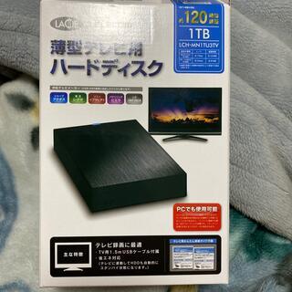 エレコム(ELECOM)の外付けHDD テレビ PC 録画可能(テレビ)